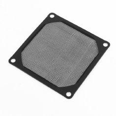 nice Water & Wood 8cm x 8cm PC Cooler Fan Aluminum Dustproof Meshy Filtere Black