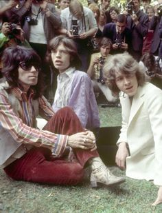 """pinkfled: """" The Rolling Stones after a press conference in Hyde Park, June 13 - 1969. Mick Taylor was presented, guitarist that would replace Brian Jones. The Stones also announced they would give a..."""