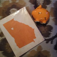 "[ new with tags] ATLANTA Bundle ATLANTA, GEORGIA ""I Heart My State"" 8x10 print (New in package) & Atlanta Peach Piggy Bank (NWT). Very cute gift idea! Other"