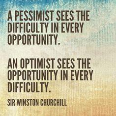 Pessimist vs. Optimist