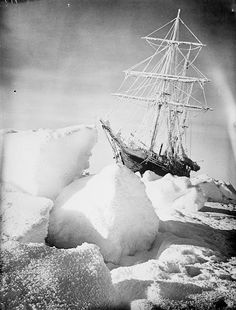 'Endurance' in the ice - Photo by Frank Hurley - 1915 - Explore the World with Travel Nerd Nici, one Country at a Time. http://TravelNerdNici.com