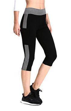 87e4041db400c0 Neonysweets Womens Yoga Capri Tights Exercise Running Fitness Pants Leggings