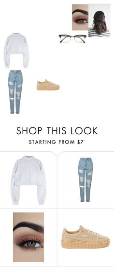 """""""Untitled #610"""" by melissaperez427 on Polyvore featuring Topshop, Puma and Ray-Ban"""