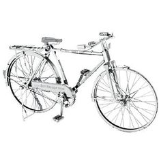 Figure Model Kits - Fascinations Metal Earth ICONX Laser Cut Model Kit Classic Bon Voyage Bicycle ** You can find more details by visiting the image link. Metal Earth Models, Metal Models, Metal Model Kits, Chain Drive, Model Building Kits, How To Make Toys, 3d Laser, Book Sculpture, Figure Model
