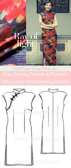 Free Sewing Pattern & Tutorial: China Style Dress Sewing Pattern