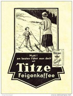 Original-Werbung/ Anzeige 1928 - TITZE FEIGENKAFFEE - ca. 160 x 220 mm