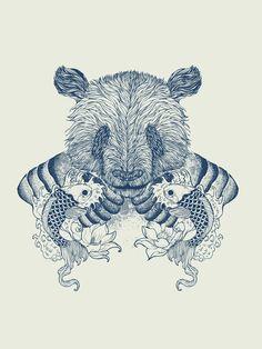 Panda Tattoo Art Print