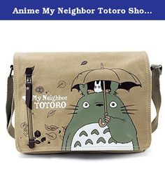 Anime My Neighbor Totoro Shoulder Bag Cosplay Unisex Messenger Bag for Sale by JapanCos. Brand new product with cool design.;Size: Around 31*26*7cm; Weight: 0.3kg;Including: A cool bag and our service card, Great after-sale service.;Material: Superior high density cotton canvas for durable utilization and cosplay!;A must have for any fans of this anime/character; fancy gift!.