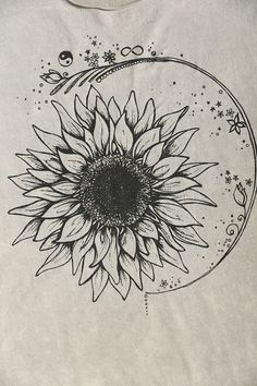 I love this! That sunflower would be a great tattoo!
