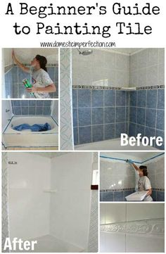 painting bathroom tiles