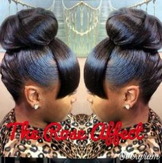 dressy bun hairstyles bun hairstyles with braids double bun hairstyles My Hairstyle, Ponytail Hairstyles, Hairstyles With Bangs, Weave Hairstyles, Pretty Hairstyles, Wedding Hairstyles, Updos, Wedding Updo, Natural Hair Styles