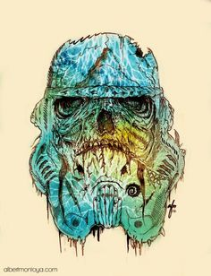 Personnages de la pop culture version Zombie. #Stormtrooper #Starwars by http://albertmontoya.com/