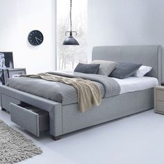 Save on the Jersey King Storage Bed Frame - Light Grey and a wide range of products at Beds Online & Georgia King Bed Frame with Storage Drawers - Products - 1825 ...