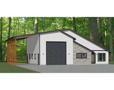 Possible garage plans w land Metal House Plans, Pole Barn House Plans, Garage House Plans, Pole Barn Homes, Shop House Plans, House Floor Plans, Rv Garage, Pole Barns, Shop Plans