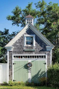 Every thought about how to house those extra items and de-clutter the garden? Building a shed is a popular solution for creating storage space outside the house. Whether you are thinking about having a go and building a shed yourself Garage House, Garage Shed, Detached Garage, Garage Plans, Shed Plans, Garage Doors, Garage Exterior, Garage Studio, Garage Ideas