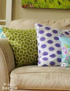 Learn how to make your own DIY Envelope Lumbar Pillows for your home decor!   shop supplies @ joann.com