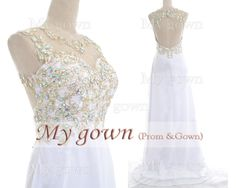 2014 Prom DressStraps Lace Beads Chiffon Prom Dress by MyGown, $159.90