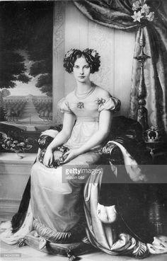 1825 ca. Prinzessin Luise von Preussen (Friedrich der Niederlande), jüngste Tochter von Königin Luise und Friedrich Wilhelm III., Porträt nach einem Gemälde von Karl Wilhelm Wach