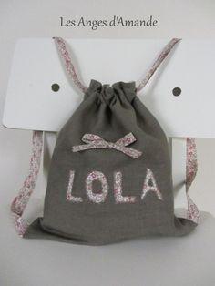 sac à dos enfant personnalisé en lin et liberty