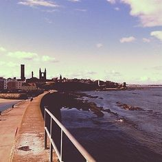 The iconic St Andrews skyline from the end of the Pier