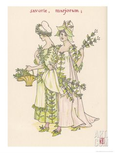 With Satureja Savory and Marjoram Personified Giclee Print by Walter Crane at Art.com