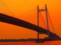 2nd hooghly bridge on ganges river, kolkata.india by Indrarup Saha on 500px