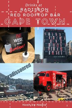 There is nothing like finding the perfect Cape Town rooftop. The views of the mountian and the city are just relaxing and the ideal backdrop. Click to see why I love returning to the Radisson Red in the Waterfront area. Red Roof, Rooftop Bar, Just Relax, Cape Town, Backdrops, Drinks, City, Food, Drinking