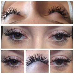 Semi permanent eyelash extensions £45, infills £20
