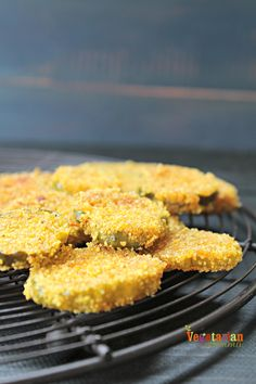 Gluten Free Fried Pickles @Vegetarianmamma.com - Delicious and Dairy Free