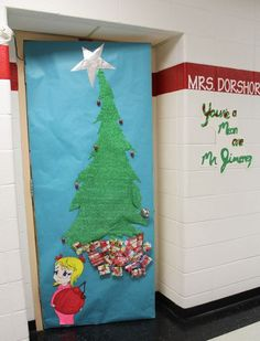 grinch christmas door decorating ideas. Plain Ideas Grinch Door Decorating Contest  Decatur Community Schools  U201cGrinchu201d Wins  Doordecorating Throughout Christmas Ideas S