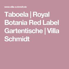 Taboela | Royal Botania Red Label Gartentische | Villa Schmidt
