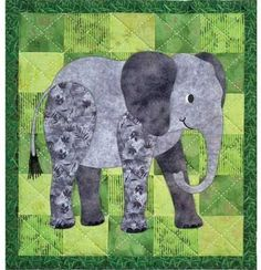 How about teal & lavender with a gray elephant?