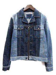 ランバン LANVIN デニムジャケット ジージャン Gジャン ジップアップ 青 16SS /TU メンズ 081-301803080082 ブランド中古・アパレル古着通販のベクトルパーク。人気ファッションアイテムが70万点以上。 Denim Ideas, Japan Design, Apparel Design, Workwear, Men's Style, Mens Fashion, Cotton, Jackets, Fashion Design