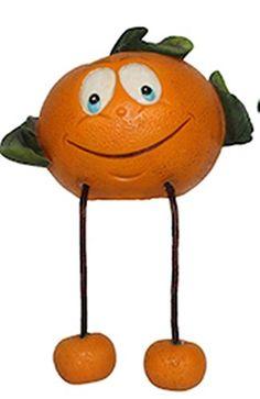Fruits figurine shelf sitter Orange BISTRO DECOR home Bar kitchen new.