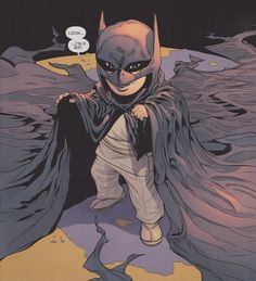 Toddler Damian from Batman and Robin #0
