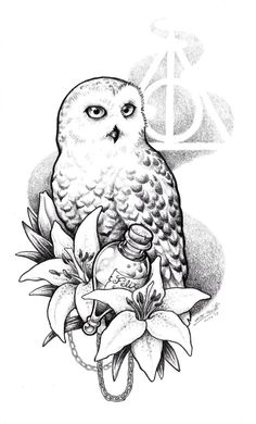 Explore collection of Harry Potter Deathly Hallows Symbol Drawing Harry Potter Tattoos, Harry Potter Symbols, Harry Potter Owl, Harry Potter Drawings, Harry Potter Theme, Deathly Hallows Symbol, Harry Potter Deathly Hallows, Hedwig Tattoo, Cheshire Cat Tattoo