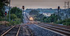 Downhill Omaha, Nebraska. # something about trains