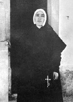 Sister Lucia as a Dorothean Nun  In 1925 Lucia entered the Order of Saint Dorothy at Tuy, Spain. She was one of the three children who claimed ot have seen the Virgin Mary in Fatima, Portugal.