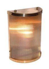 Brass reeded wall light special