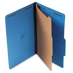 Universal Pressboard Classification Folders Legal FourSection Cobalt Blue 10Box 10211 -- ** AMAZON BEST BUY **
