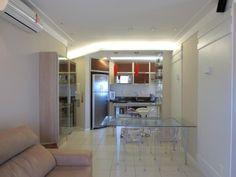 Sala + cozinha apartamento pequeno bem aproveitado