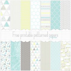 Free printable or digital patterned paper set: 'Love Graphics' (in many sizes) >> Most commercial use okay. #Scrapbooking #Cards #ProjectLife