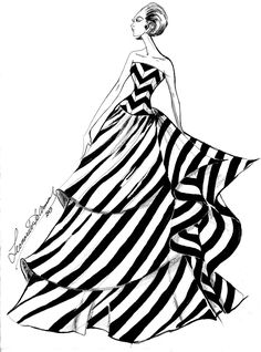 Resultado de imagen de bocetos moda chanel