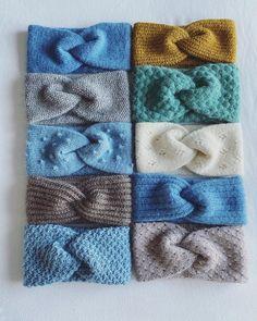 Easy Knitting, Loom Knitting, Knitting Patterns, Crochet Patterns, Knit Headband Pattern, Knitted Headband, Knitted Hats, Knitting Projects, Crochet Projects
