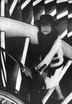 Coco Chanel 1963...I'd LOVE to go up those mirrored stairs!