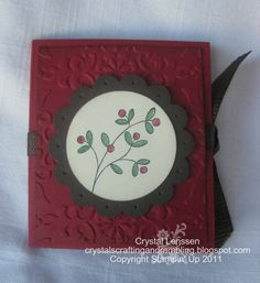 Christmas Teabag Holder by happy2stamp4ever - Cards and Paper Crafts at Splitcoaststampers