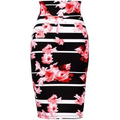 Thalia Sodi Floral-Stripe Scuba Pencil Skirt and other apparel, accessories and trends. Browse and shop 8 related looks.