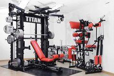 11 Inspiring Titan Home Gym Ideas Photograph Home Gym Basement, Home Gym Garage, Gym Room At Home, Multi Station Home Gym, Home Multi Gym, Home Made Gym, Diy Home Gym, Best Gym Equipment, No Equipment Workout
