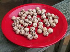 Gluten Free Chocolate Chip Cookie Dough Balls For Ice Cream. Delicious and low calorie! Great with Yonanas