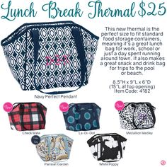 Lunch Break Thermal by Thirty-One. Fall/Winter 2016. Click to order. Join my VIP Facebook Page at https://www.facebook.com/groups/1603655576518592/